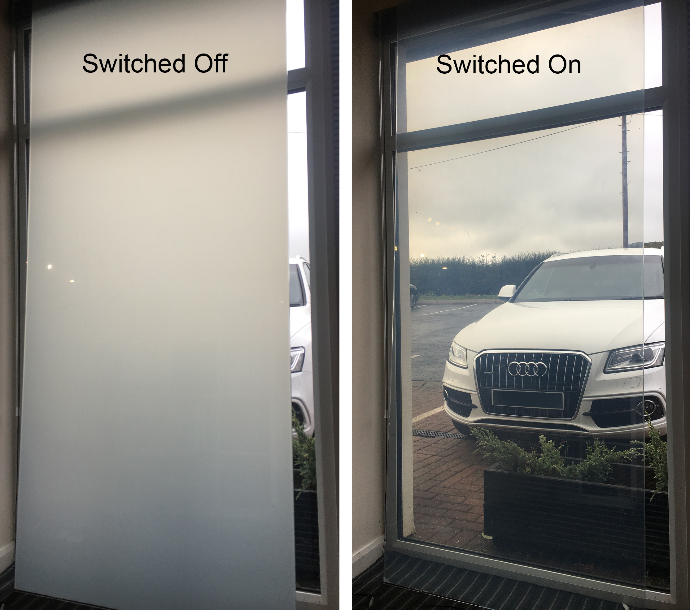 Electric Intelligent switchable Mirror Glass for privacy