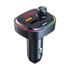 Mp3 Dual Hot Sale 5.0 Car Mp3 Player With Breathing Color Light Dual Usb Qc3.0 Bluetooth Fm Transmitter