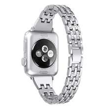Сменный Браслет для часов Apple Watch, 38 мм, 42 мм, 40 мм, 44 мм, для iWatch Band, Diamond, 5/4/3/2/1(China)