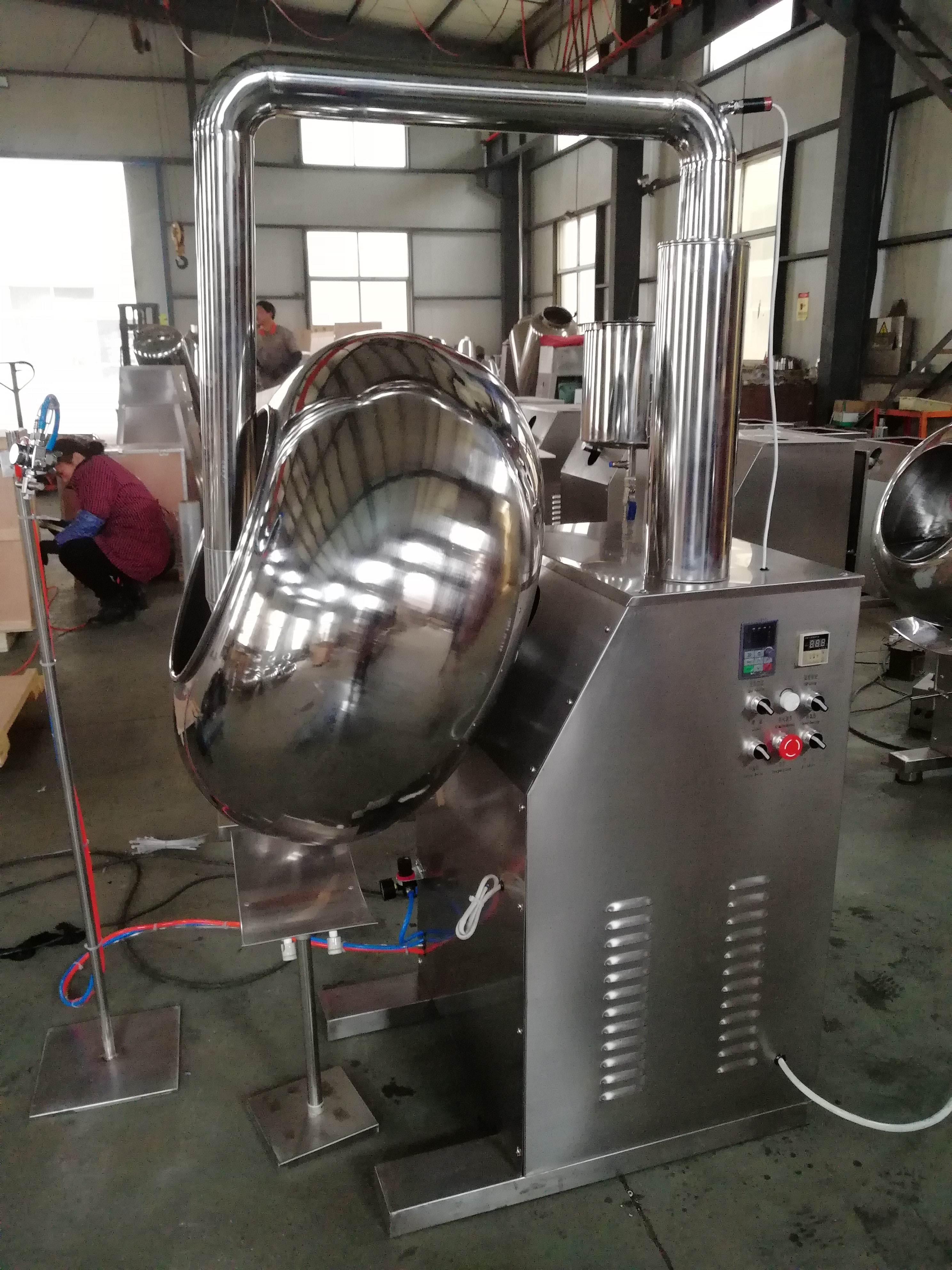 BYC-800 high-efficiency automatic tablet candy coating machine conventional pan 50 kg