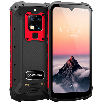 Rugged shockproof 8GB 256GB 48mp phones mobile android 9.0 6.3 inch UV Detection Infrared Remote Control mobile phones 4g