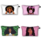 Make Up Pouch Black Girl Makeup Bag Hot Selling Cheap Custom Black Art Girls Magic African Make Up Pouch Bag Toiletry Travel Organizer Makeup Cosmetic Bag