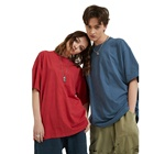 T-shirts 210g Double Yarn 100% Cotton Fabric Men's T-shirts Oversize Custom Tshirt