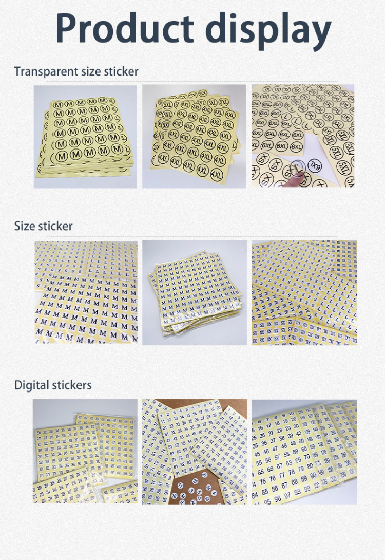 Customized Reflective Stickers Labels For Clohing Ad Clothes Mini Box Custom Adhesive Label Paper Size Sticker