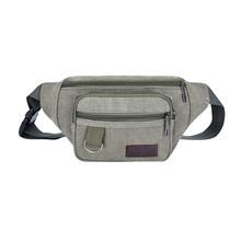 Портативная холщовая поясная сумка для спорта на открытом воздухе, поясная сумка унисекс, сумка для телефона, сумка через плечо для женщин и...(Китай)
