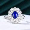 18k white gold 1.05ct natural sapphire ring