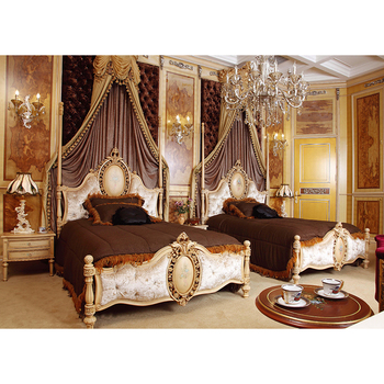 Hot Sale Antique Furniture Single Bed Double Bed King Queen Size Bedroom Furniture Sets