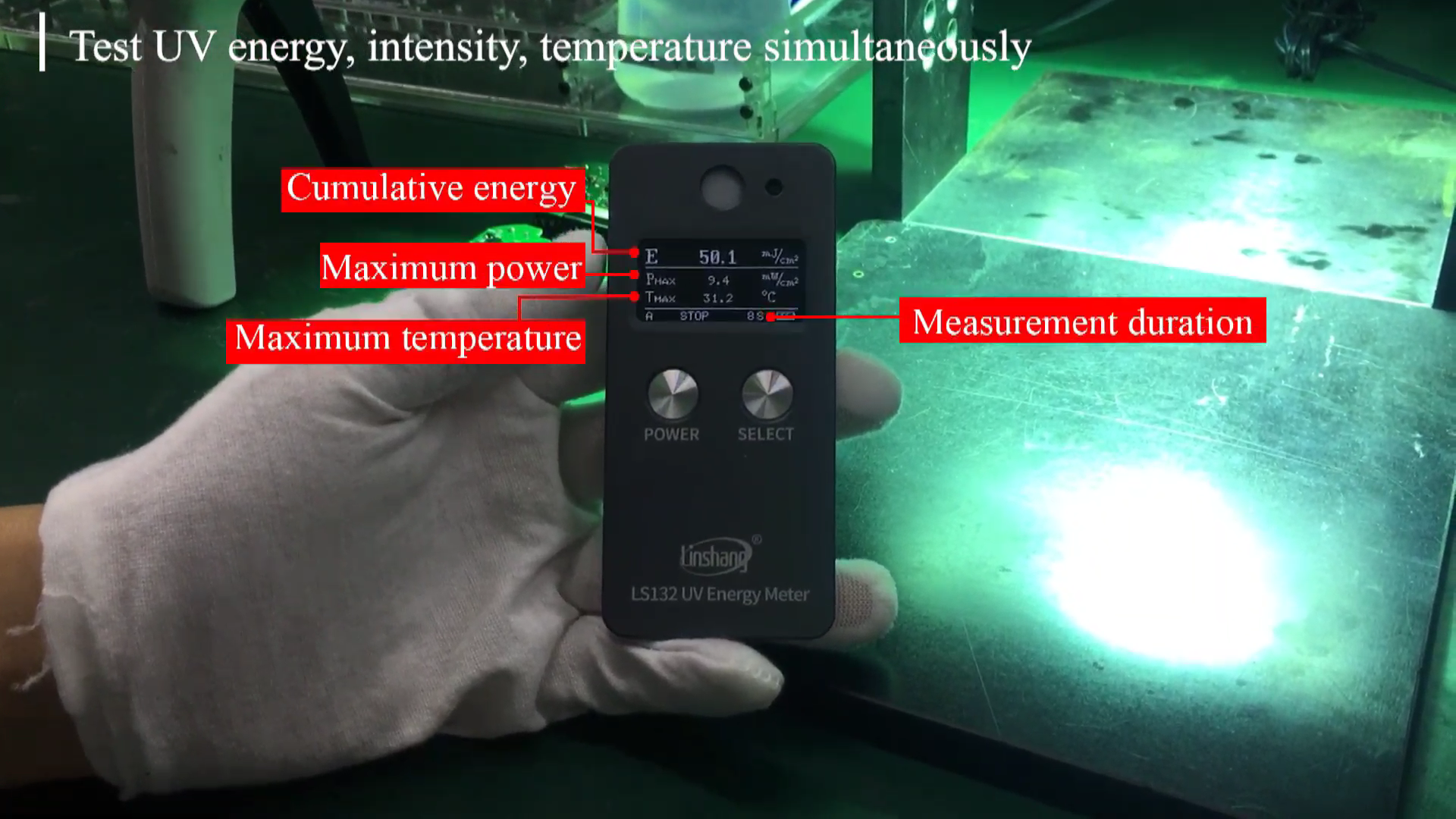 Ultraviolet Radiometer Linshang LS132 UV Energy Meter for 365nm Halogen High Pressure Mercury Lamp Curing Exposure Machine