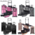 rose gold pro makeup artist large size trolley rolling makeup case,  custom logo good price make up case with mirror and drawer