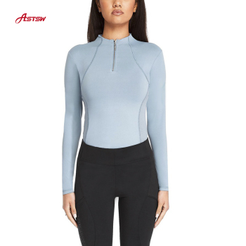 New Arrival Breathable Riding Apparel Female Quick Dry Riding Tops Equestrian Baselayers