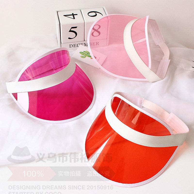 Sunvisor Empty Plastic PVC Cap Hat