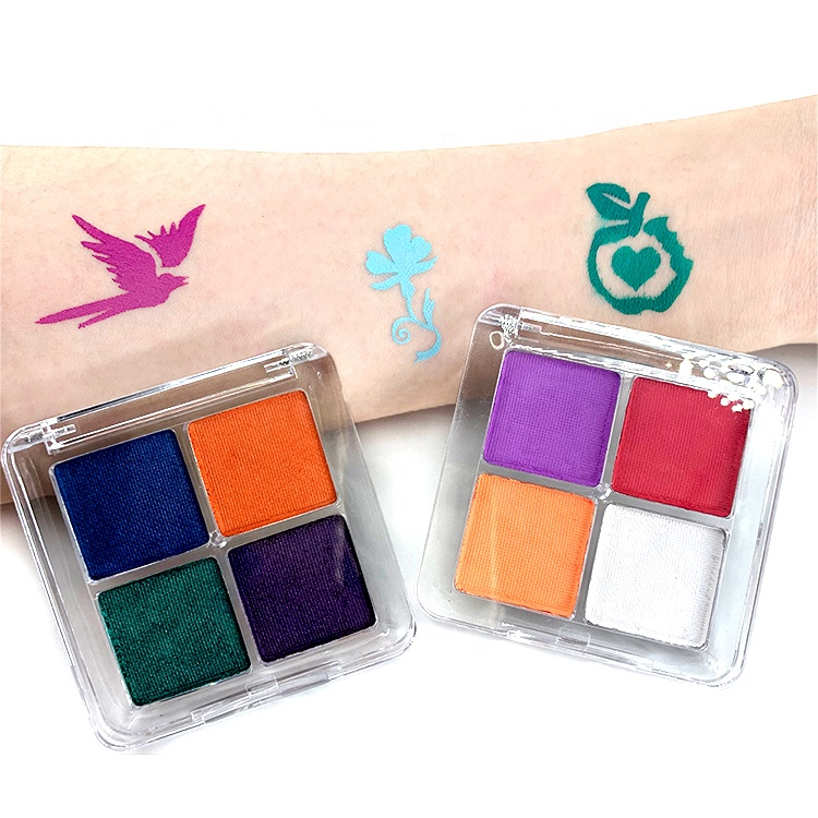 2021 best selling Wholesale private label 4 color aqua water activated face body paint eye liner palette for makeup