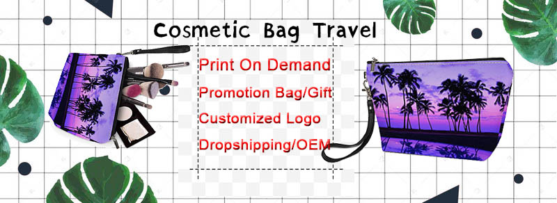 Fashionable Italian Greyhound Pattern Print Custom Bags Large Capacity Women Pouch Bag Cosmetic
