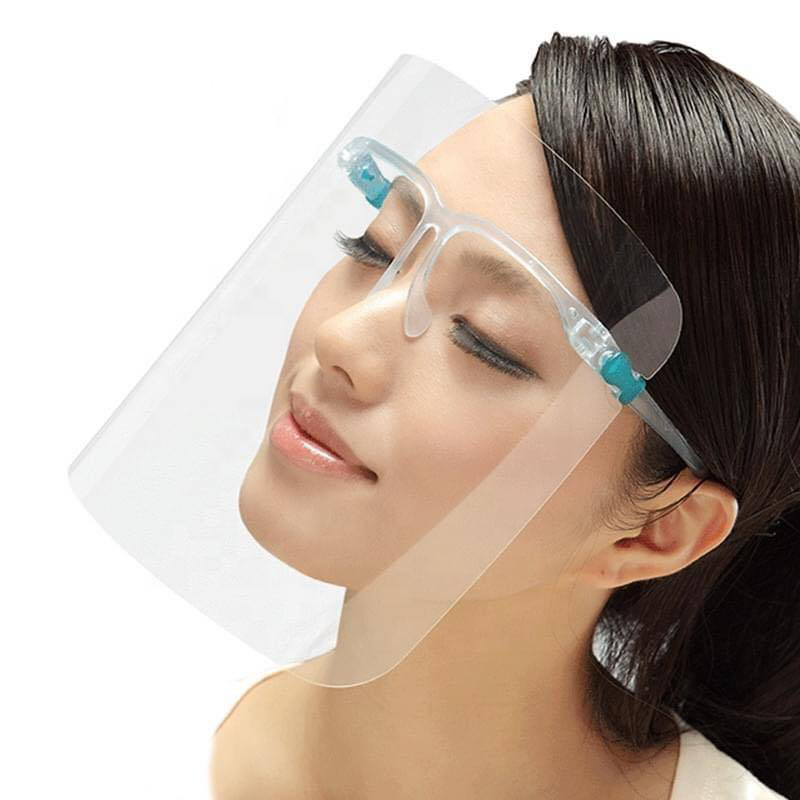 Anti Fog Clear Reusable Transparent Plastic Protection Shield Facial Eye Protective Face Shields With Glasses - KingCare | KingCare.net