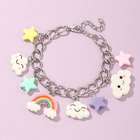 Colorful Rainbow Bracelet Clouds Butterfly Stars Jewelry Charm Bracelet For Kids Christmas gift
