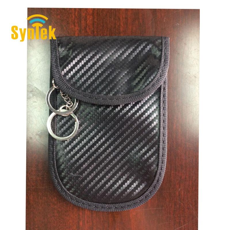 RFID Faraday Carbon Fiber Blocking Bag Car Key Pouch Signal Protection