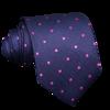 Navy Tie Fuchsia Polka Dots