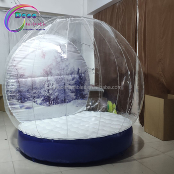 inflatable snow globe/giant customs snowball for christmas
