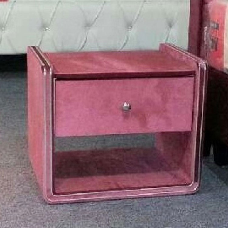Modern simple pink side table furniture home nightstand side table with drawer