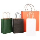 Bag With Handle Paper Bag With Handle Brown White Colorful Kraft Shopping Gift Packaging Personalized Printed Paper Bag With Handle Print Your Own Logo