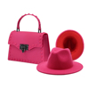 Rose red hat and purse set