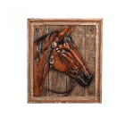 Wooden Gift Wooden Frame Horse Head Plaque Wooden Frame Resin Home Decor And Gift