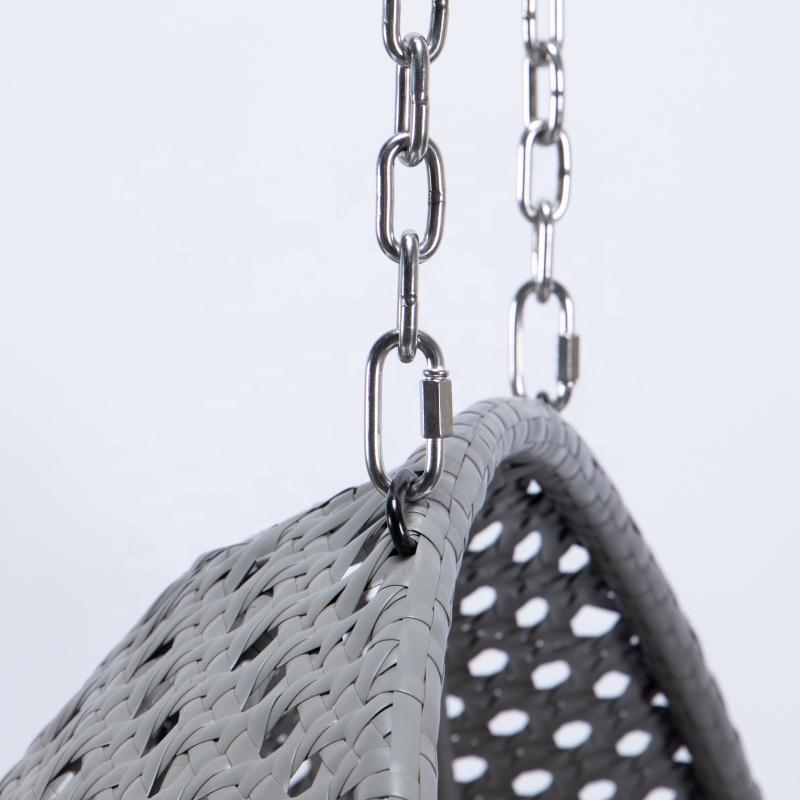 Садовая мебель из ротанга высокого качества, плетеное кресло-качели для патио
