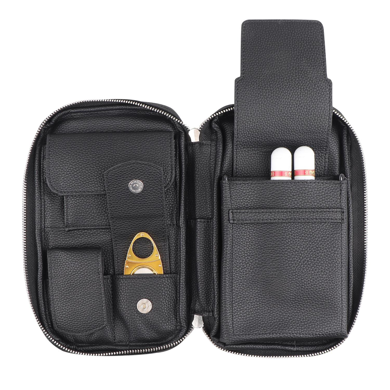 Индивидуальная сумка для сигар, Дорожный Чехол для сигар из искусственной кожи для прикуривателя, хьюмидора