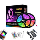 Tv Leds Led Led Rgb Led Strip 5m 12v TV Background Light 5m 10m Smart Music APP Wifi Remote Control 150 300 LEDs Flexible LED RGB Strip Light Kit SMD 5050