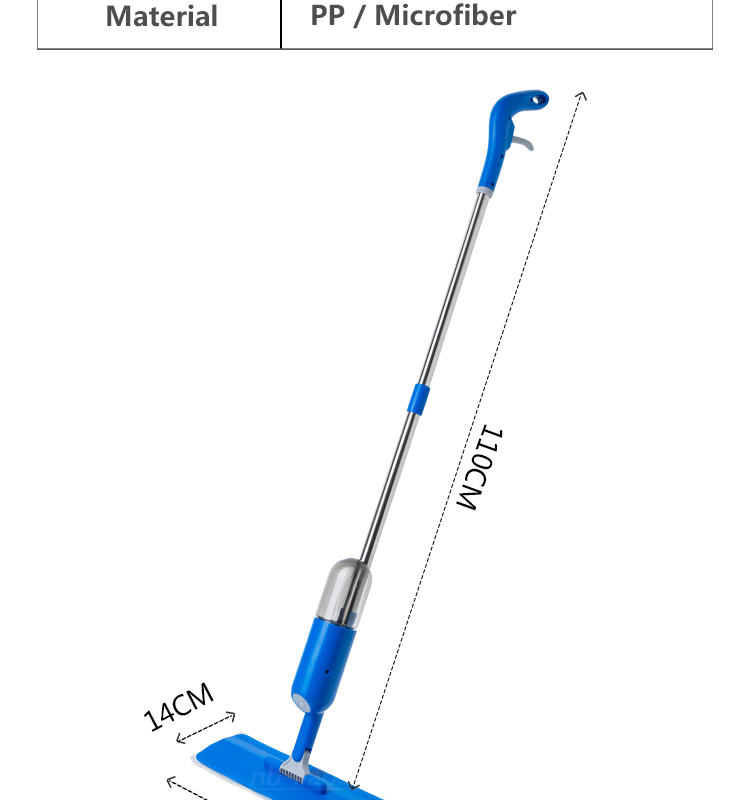 GSA014  Kleaner Aluminium Handle Water Spray Mop