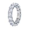 Round Shape White Zircon Ring
