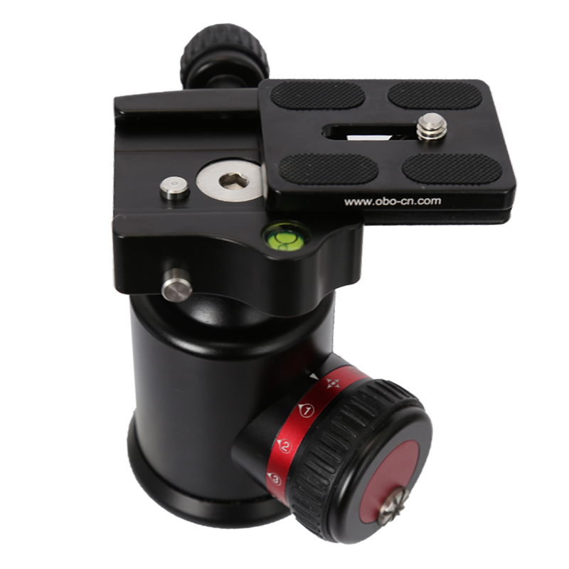 360 degree panoramic base with quick-shoe knob Camera Tripod Ball Head Quick Release Plate Photo Video Studio