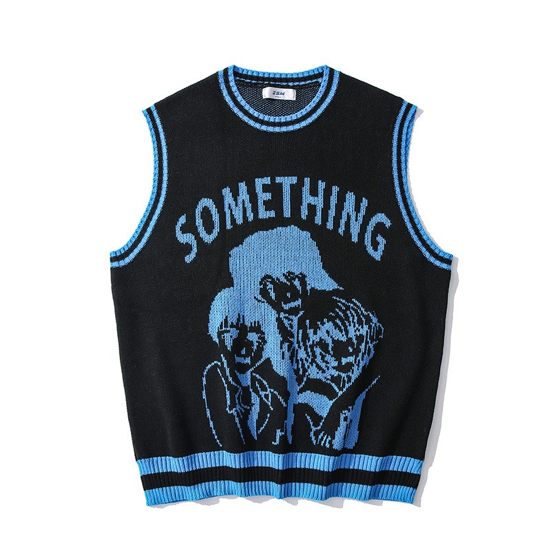 China knitting manufacturer OEM women sleeveless jacquard knitted custom sweater vest