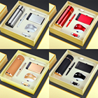 Corporate Popular Custom Gift Set 6in1 Mouse Roller Pen Flask Usb Bookmark Portable Wireless Power Bank Keychain Corporate Souvenir Gift/