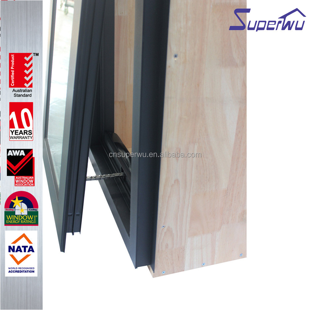 USA/Canada certified Double Glazed Hurricane impact Aluminum Frame Commercial awning Window