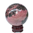 Rhodonite Nature Quartz Wholesale Price High Quality Rhodonite Stone Crystal Sphere Ball For Decoration