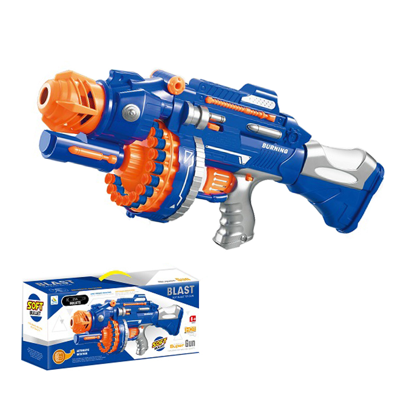 Kids Toys Manufacturer Plastic Soft Bullet Toy Guns with 40pcs Refill Darts Children Shooting Electric Toy Soft Air Gun for Boys