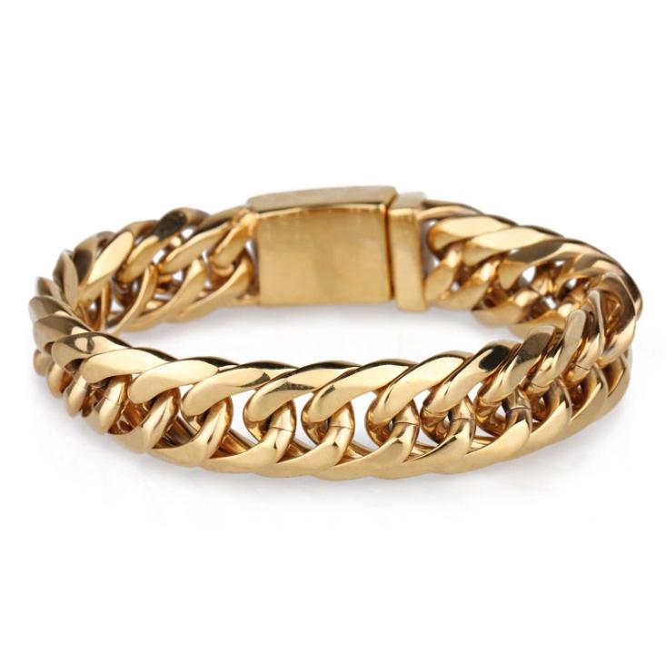 Китай, оптовая продажа, мужской итальянский позолоченный браслет для мужчин с роскошными цепями, золотые цепи