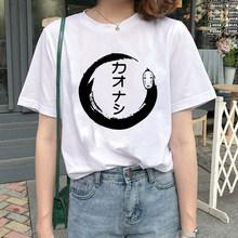 Винтажная футболка в стиле Харадзюку с изображением Тоторо спирита, футболка оверсайз, женская уличная одежда в стиле аниме Миядзаки Хаяо(Китай)
