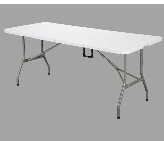 Дешевый складной стол, 6 футов HDPE Открытый прямоугольный складной стол, складной стол
