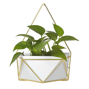 Art Geometric Hanging Planter Pot Ceramic flower Pot for Indoor Wall Planter Decor