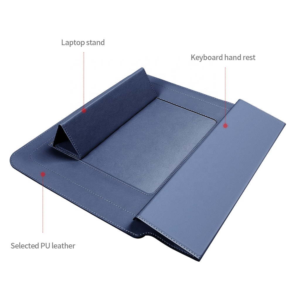 LB2020048 OEM customize Leather Laptop Sleeve Case For 11 inch 13 inch 15 inch Stand Cover for notebook Portable protective