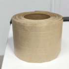 Water Activated Reinforced Gummed Kraft Paper Tape With One Color Printed Customized Packing Tape For Carton Sealing 76mm x 45m