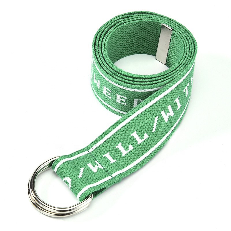 Оптовая продажа, самый дешевый тканевый ремень с принтом логотипа на заказ