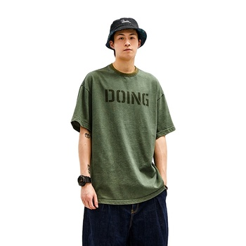 Online Shipping Apparel O Neck T Shirts, Cotton Men Clothes, Print T-Shirt