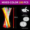 100pcs/set, mixed color