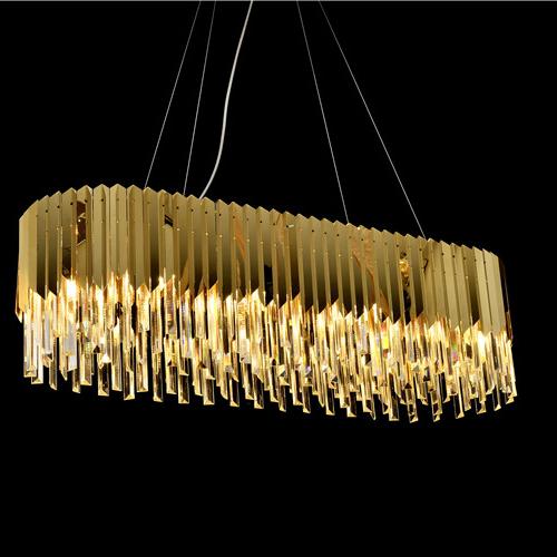 Производитель Zhongshan, Современная античная Золотая Хрустальная светодиодная люстра K9