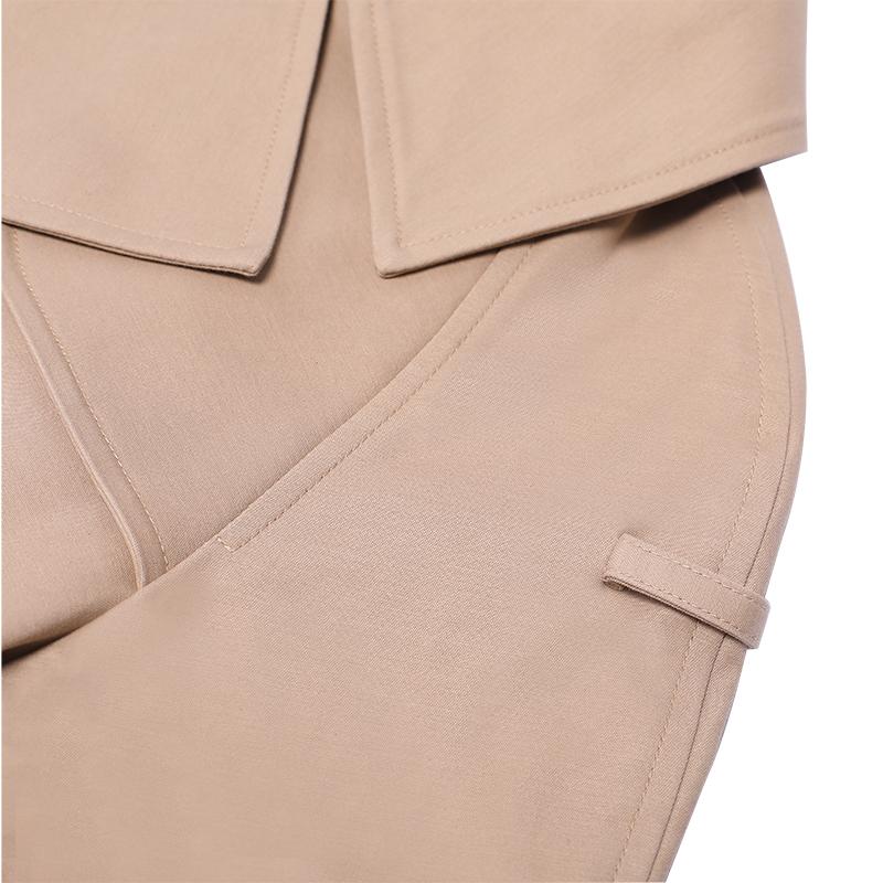 Huiquan, современный, Лучшая цена, Дамский Уокер, пальто, новый дизайн, верблюжий Женский Тренч