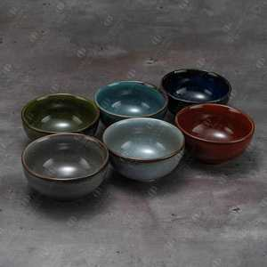 Good Quality Popular Rustic Style Household Dinner Serving Salad Rice Round Ceramic Bowl
