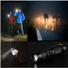 Torch Q5 South Flashlight Waterproof Dimmable Zoom Pocket Led Mini Flashlight Torch 14500/AA Q5 Rechargeable Aluminum Tactical Led Flashlight With Clip